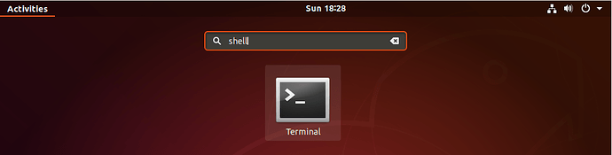 Terminal launcher in Ubuntu 18.04