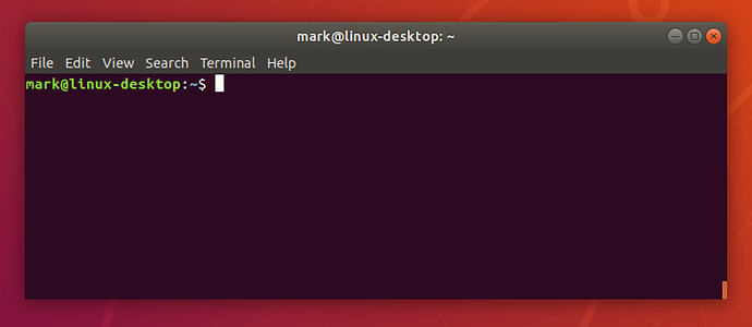 A new terminal window in Ubuntu 18.04